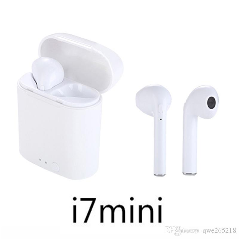 Mini i7 Twins Bluetooth Earbuds I7 Wireless Earphones Headphone Ear Buds For Iphone Android With Charger Dock 003