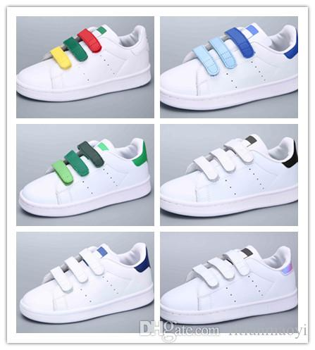 best sneakers 3fee3 f76df NEW Children s Shoes Kids Classic Style Stan Smith Shoes for Boys Girls  White Green color musial Stan Smith Superstar Skateboarding 24-35
