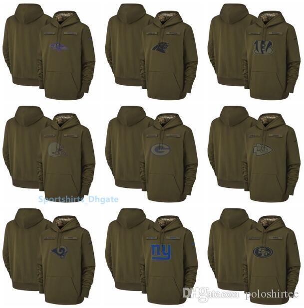 reputable site 91847 f3d95 Men Baltimore Ravens Cincinnati Bengals Kansas City Chiefs New York Giants  Salute to Service Sideline Therma Performance Pullover Hoodie