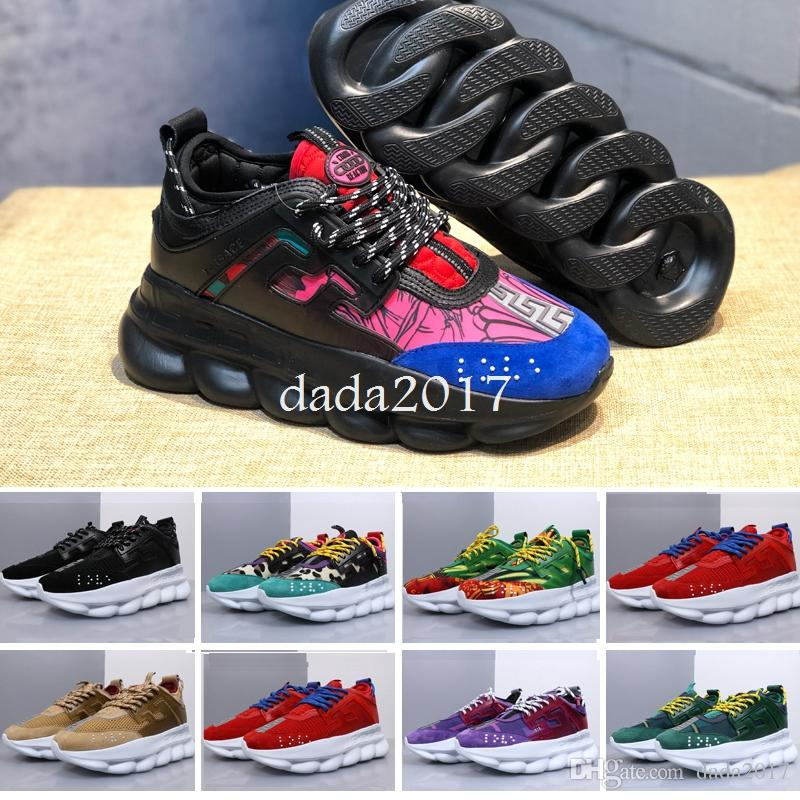 3d5743f04dfdcf 2019 Brand ACE Chain Reaction Luxury Casual Designer Sneakers Sport ...