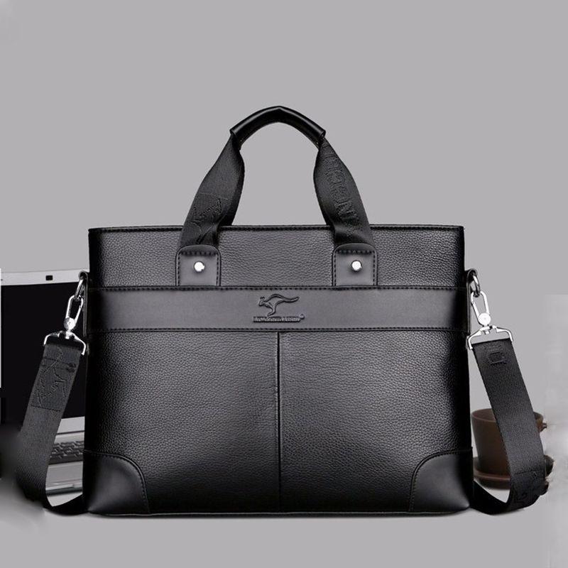 c4386bb6c5 Men Bags Business Leather Man Handbags Kangaroo Messenger Bag Casual  Briefcase Computer Laptop Tote Shoulder Bag Black Brown Crossbody Bag  Leather Bags ...