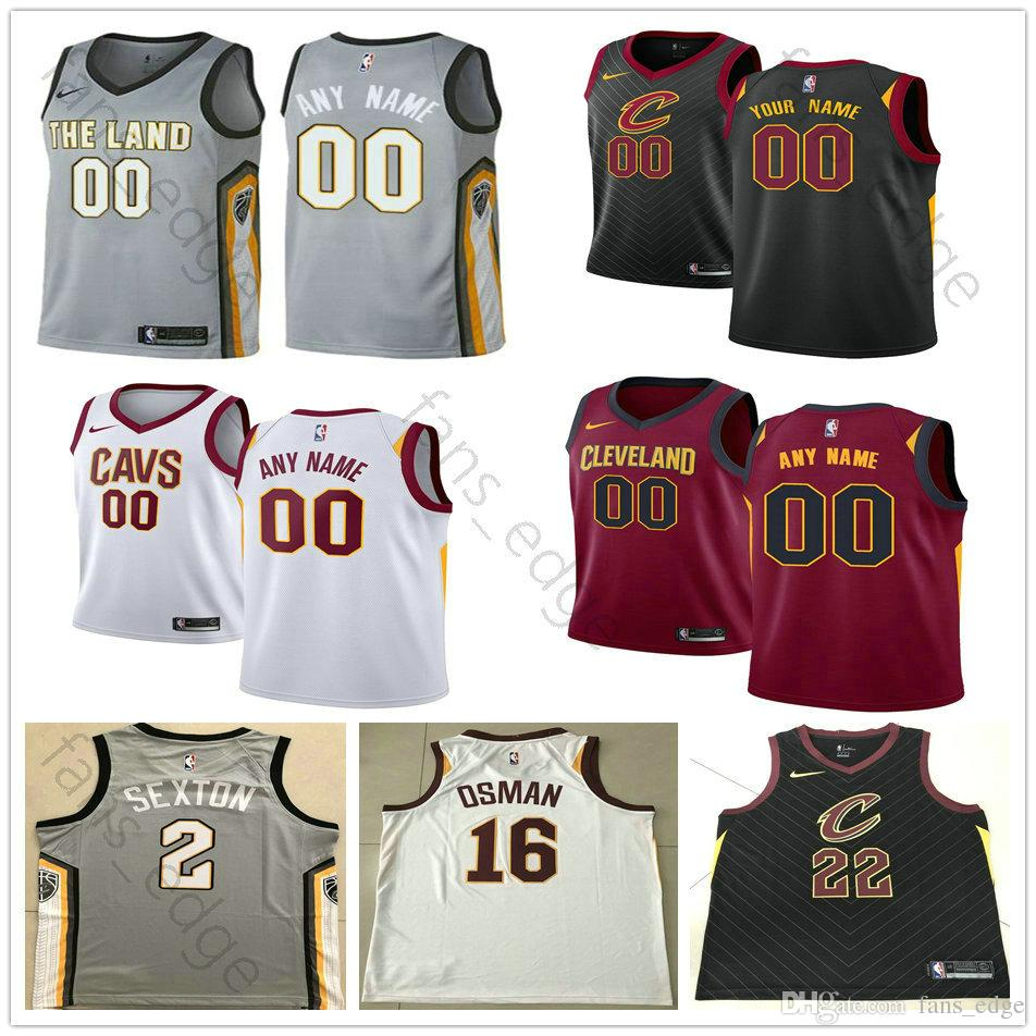 906a05328bb 2019 Screen Printed Cleveland 0 Kevin 2 Collin Love Sexton 3 George 16 Cedi  Hill Osman 13 Tristan 5 JR Thompson Smith Cavaliers Basketball Jersey From  ...