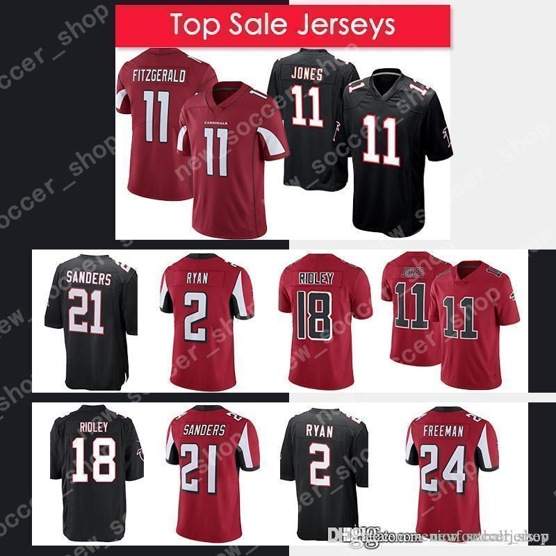 d54cb42b 11 Julio Jones 18 Ridley Atlanta Falcons Jersey 2 Matt Ryan 21 Deion  Sanders 24 Devonta Freeman Embroidery Logos Football Jerseys 2019