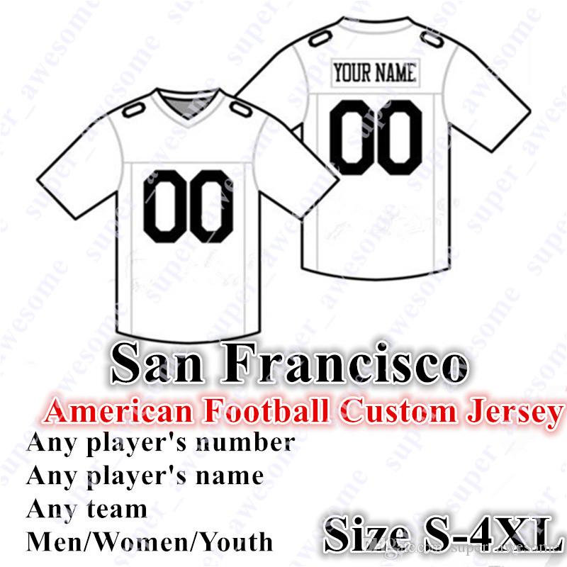 da9a5452b 2019 CUSTOM San Francisco American Football Jerseys 85 Kittle Customized  Any Name Any Number Size S 4XL Men Women Youth Stitched From Super awesome