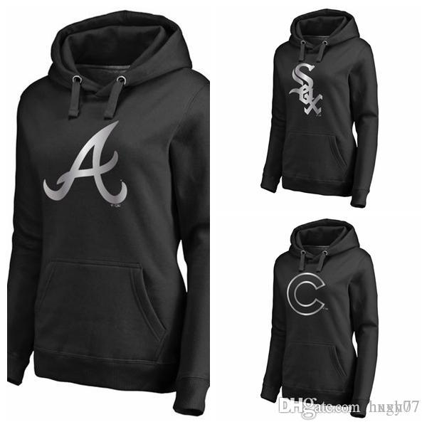 new arrival 8543c d53c8 Chicago White Sox Chicago Cubs Atlanta Braves Women's Platinum Collection  Pullover Hoodie