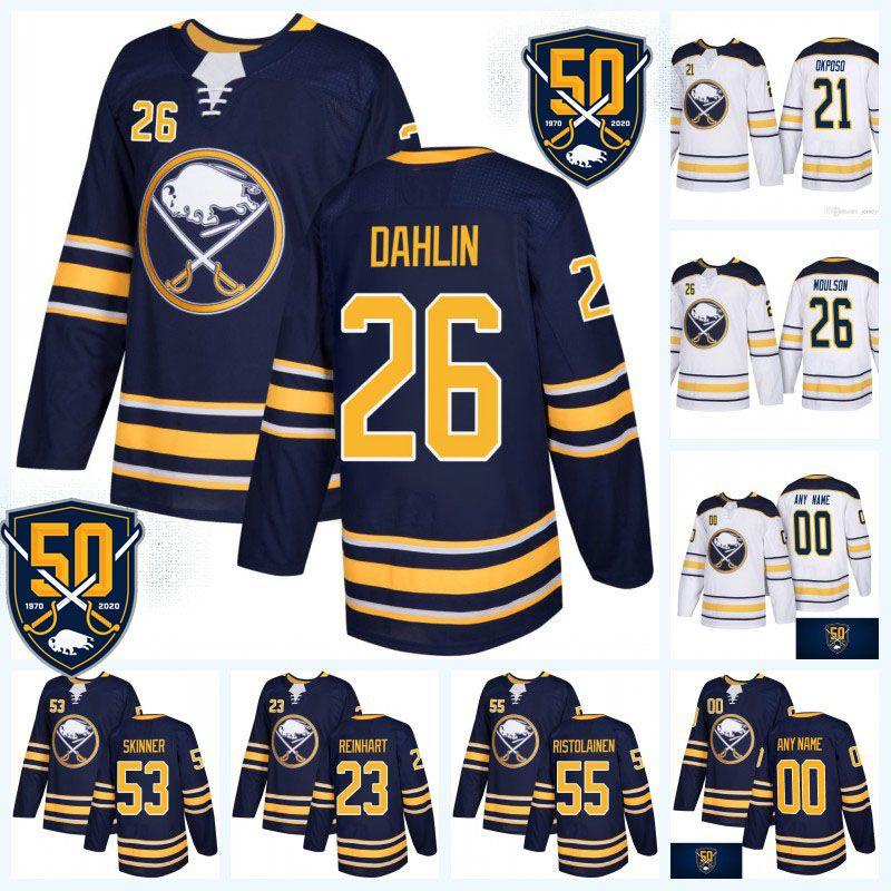 super popular dbf7a f7bc9 Youth 53 Jeff Skinner 50th Anniversary Buffalo Sabres Jersey 9 Jack Eichel  26 Rasmus Dahlin 21 Kyle Okposo 55 Rasmus Ristolainen 62 Montour