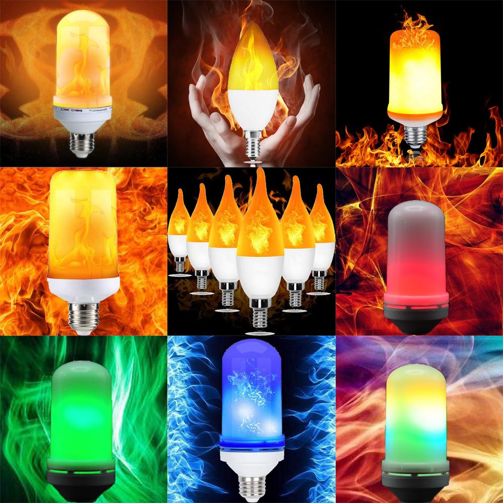 4Model LED E27 luz acesa Flicker Chama Lamp Xmas Bulb efeito de fogo