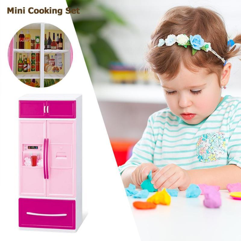 Baby Pretend Play Toys Kids Simulation Kitchen Toys Mini Kids Kitchen Pretend Play Cooking Set Children Simulation Cabinet Toys