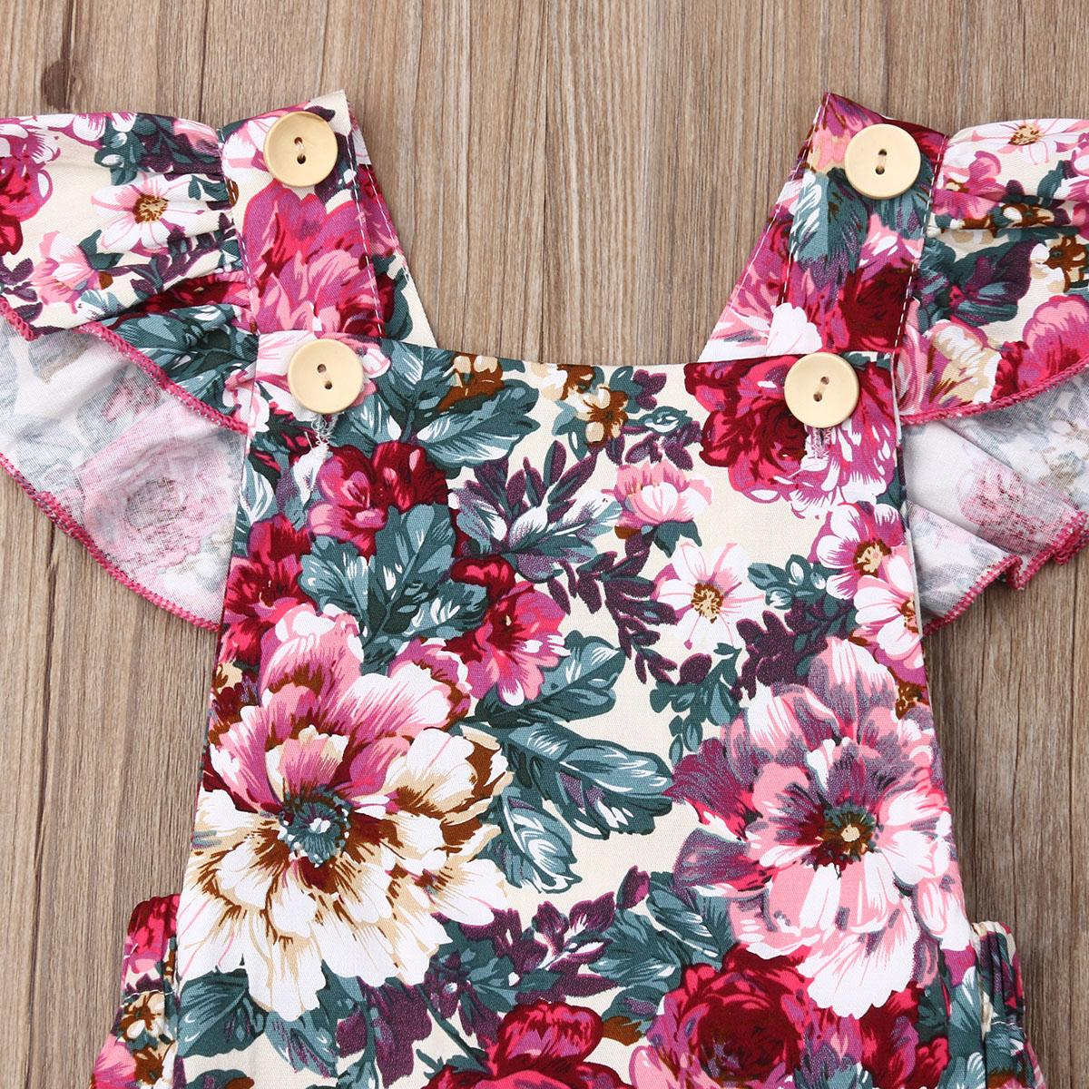 2019 신생아 유아 아이 아기 소녀 바디 수트 Sleevless 옷을 빌려 한 조각 복장 여자 Sunsuit 여름 캐주얼 의류 0-24M