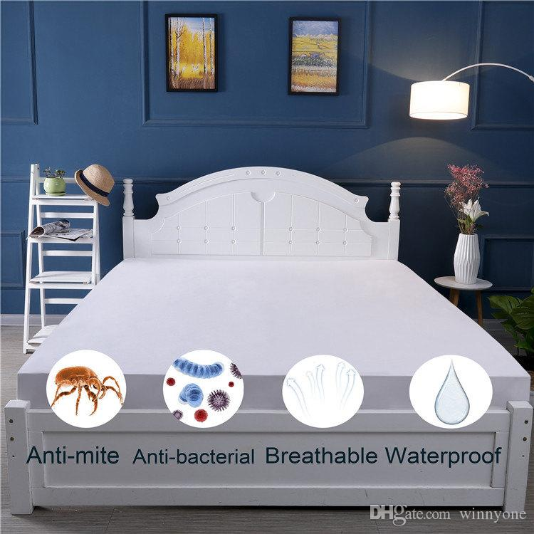 Twin Xl 38x80x14 Inches Anti Mite Terry Waterproof Mattress Cover