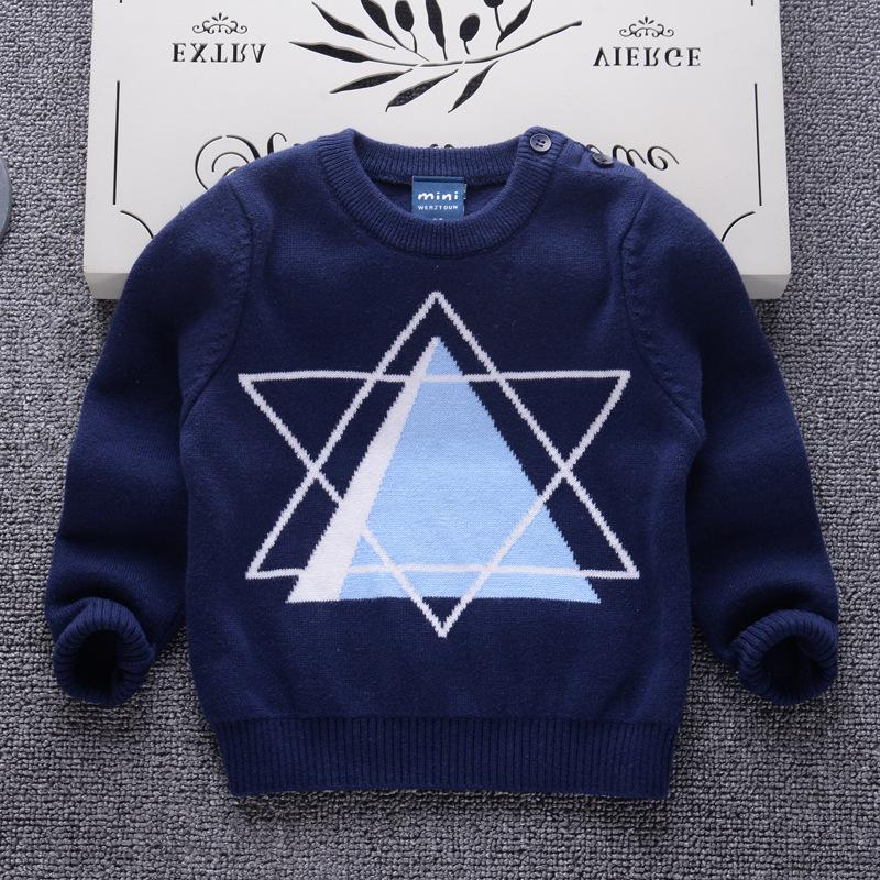 8ef393c3652948 Good Quality Triangle Girls Sweaters Toddler s Clothing Boys ...