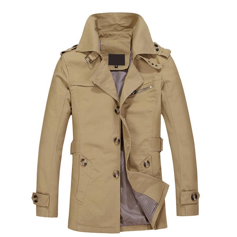 detailed look af3a5 8d9a4 Herren Mantel Lange Jacke Mantel Männer Trenchcoat Trenchcoat Masculina  Windbreaker Outwear Baumwollgewebe Jacke