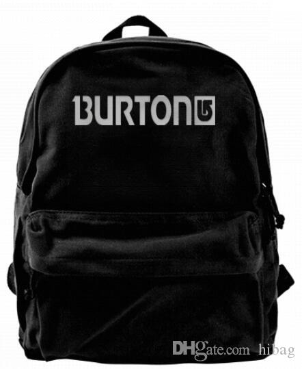 451ac3436c Burton Snowboard Skateboards Fashion Canvas designer backpack For Men &  Women Teens College Travel Daypack Leisure bag Black