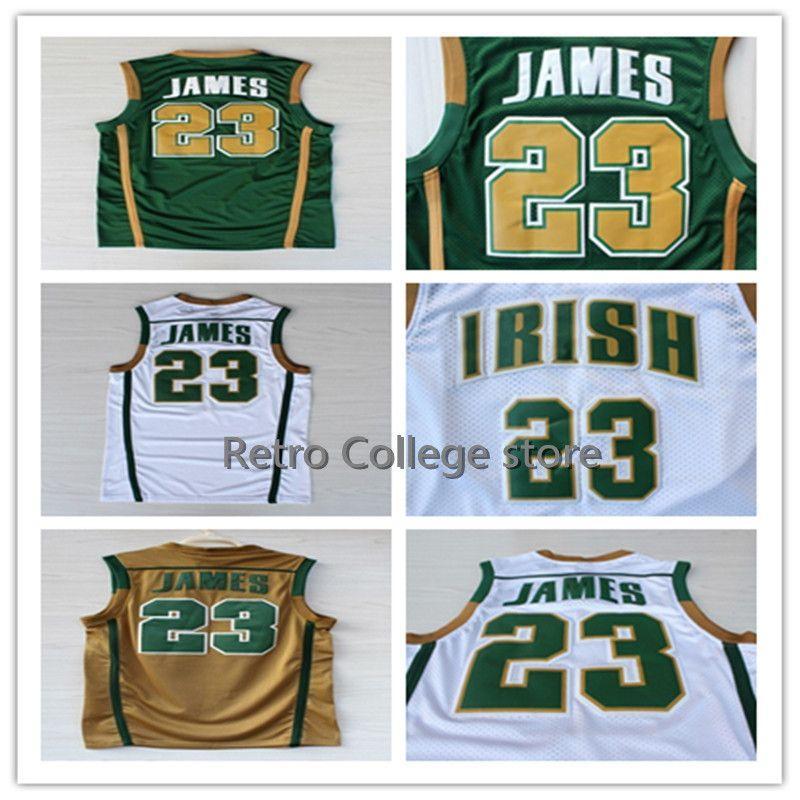 quality design f2579 2e691 Irish High School #23 LeBron James Jersey Men's Stitched basketball Jersey  xs-5xl