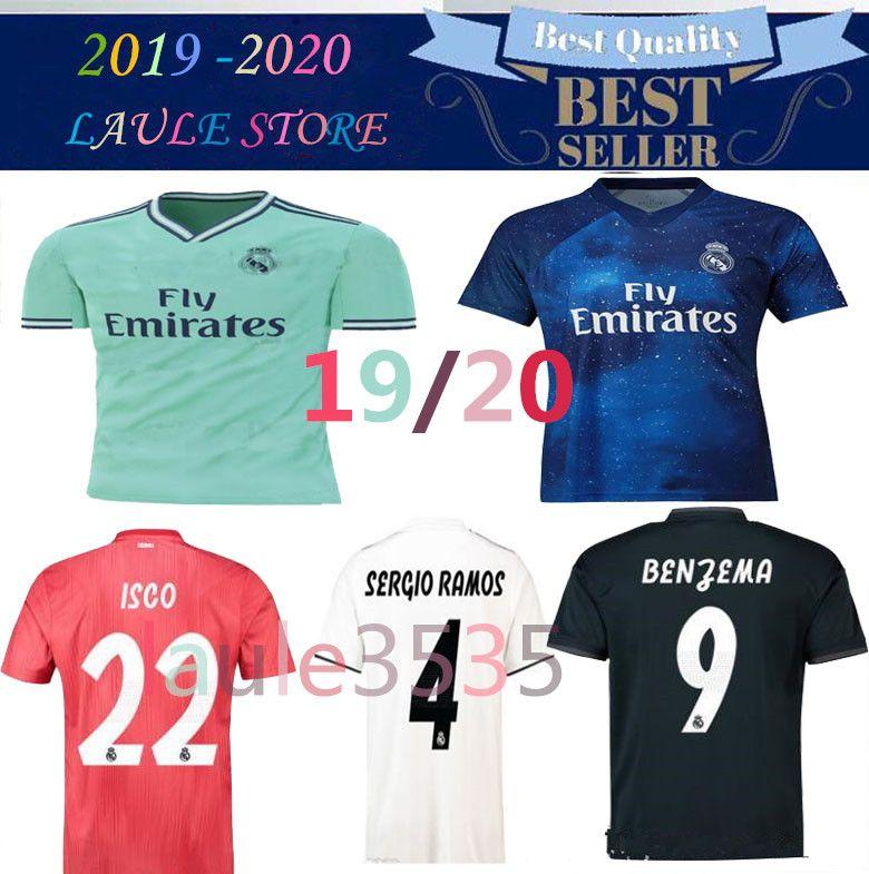 6730c081c99 2019 19 20 Real Madrid Soccer Jerseys 2019 2020 Bale VINICIUS JR ASENSIO  Casemiro Camisetas BENZEMA MODRIC SERGIO RAMOS Football Jersey Shirts From  ...