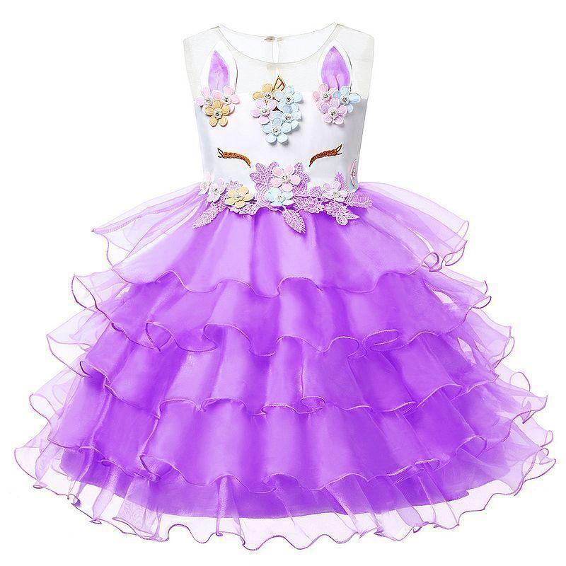 b187e4103 Vestidos infantiles para niñas Fiesta Tutu Vestido de princesa Flor de  disfraces Vestido de fiesta Vestido Unicornio Ropa de los niños