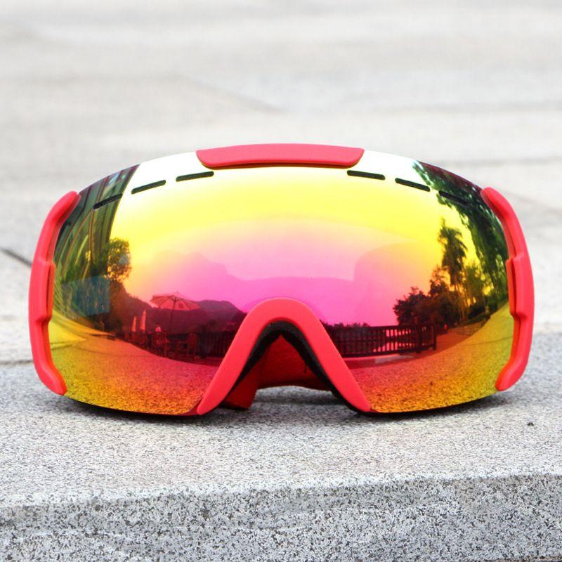 3d1415e11aa3 VANREE Brand Ski Goggles Double Lens UV400 Anti-fog Skiing Eyewear ...