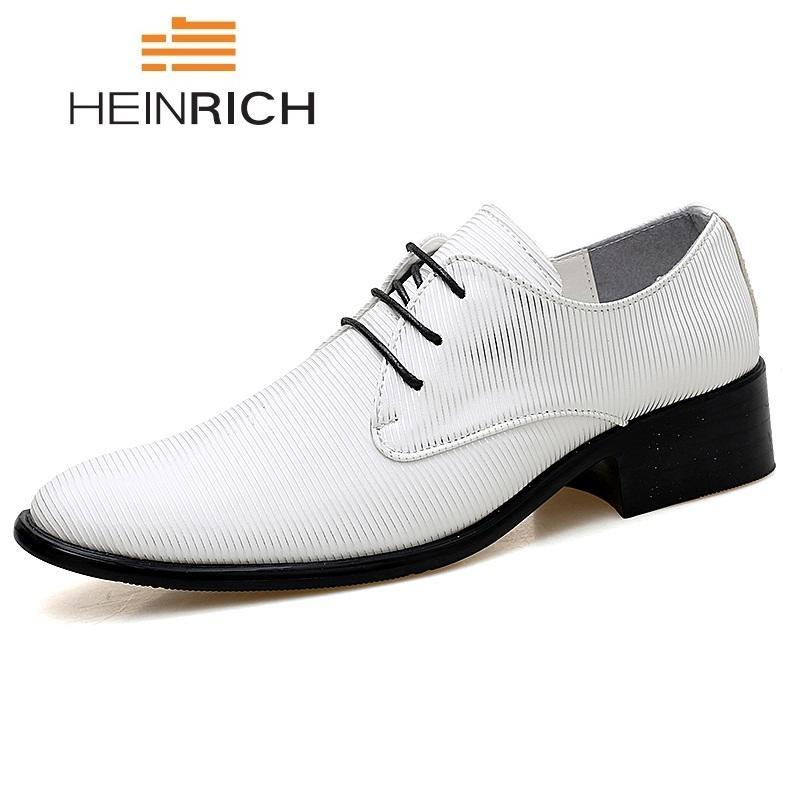 631fec3f Compre Heinrich 2018 Zapatos De Cuero De La Moda Vestido De Los Hombres Con  Cordones De Los Hombres Zapatos Formales Hombre Schoenen Oficina Zapatos  Cuero ...