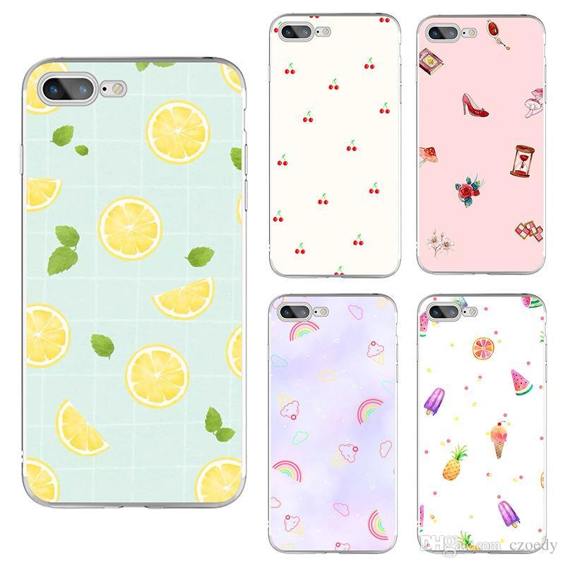 Satın Al Yeni Küçük Taze Yaz Meyve Boyama Yaratıcı Yeni Iphone Xs