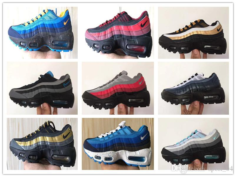 Ni_k_e Ai_r Max 95 youth Running Shoes kid Sneakers Shoes Air run 95 out door Sports shoes size 28-35