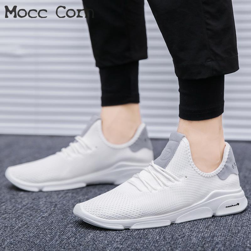 reputable site 9a341 1717d Summer Men Light Breathable Mesh Sneakers Homme Fitness Shoes Mens Trainers  Sneakers Man White Black Casual Shoes Male Tennis Summer Shoes Best Shoes  From ...