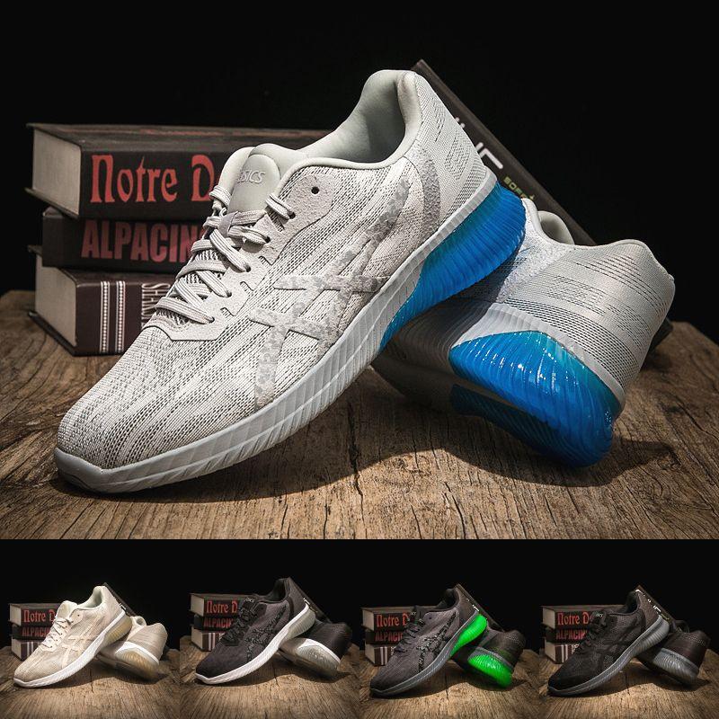 brand new 1854c 975ef 2019 2019 Asics Gel KENUN Designer Mens Running Shoes Best Quality Dark  Grey Mens Sport Cushion Sneaker Designer Shoes Size 40 45 From Strive1616,  ...
