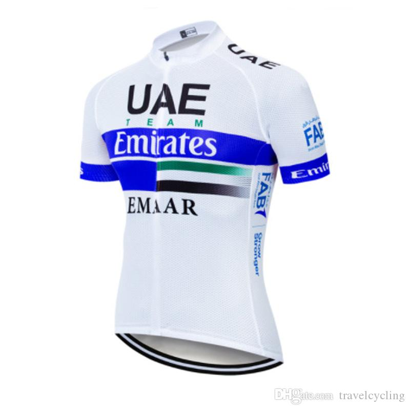 100% authentic lowest discount new images of Men Breathable UAE Team Cycling Jersey Bike Clothing Summer Quick ...