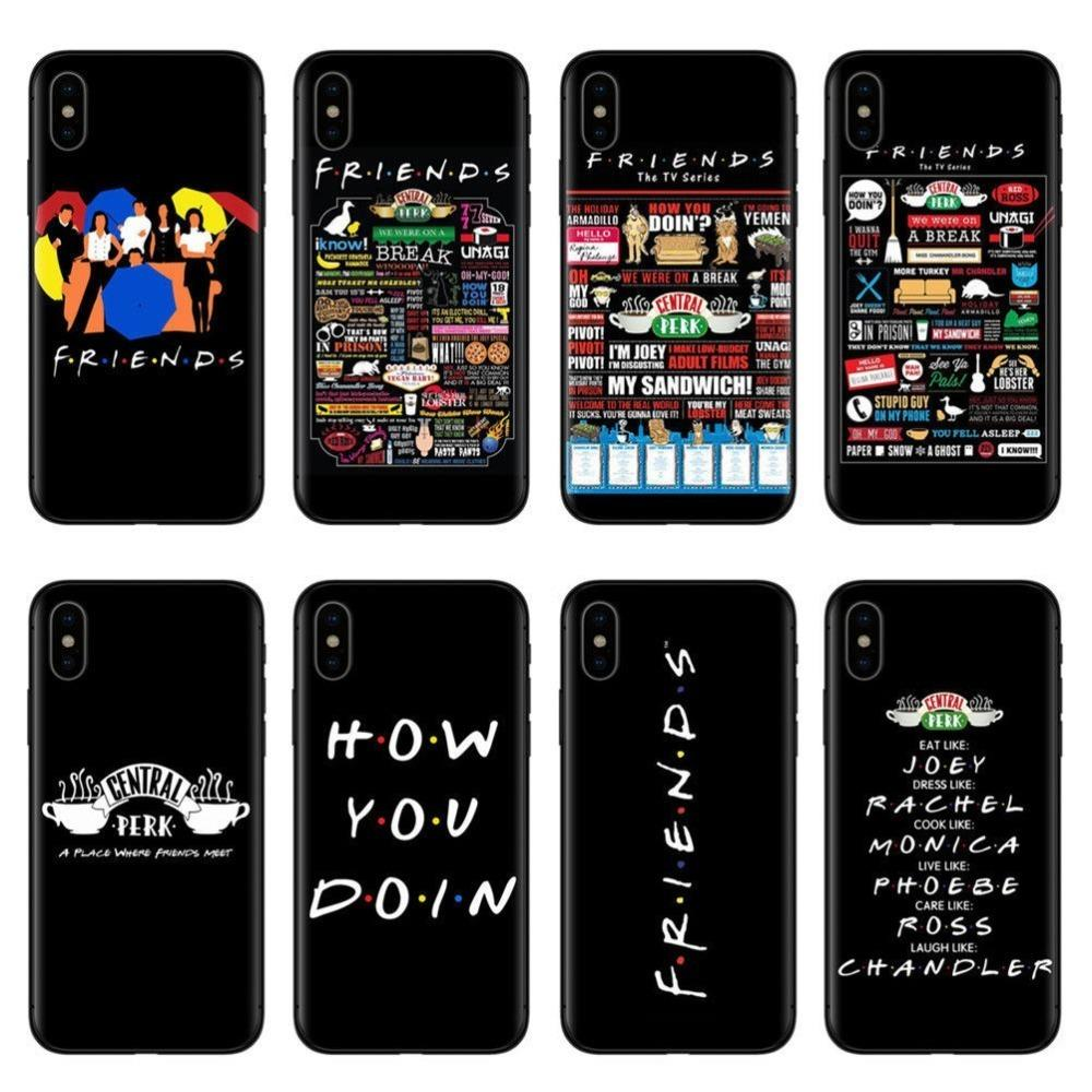 innovative design e4356 e48ac Central Perk Coffee Friends Tv Show How You Doin Black Silicone Phone Case  Cover For Iphone X 5 5s Se 6 6splus 7 7plus 8 8plus