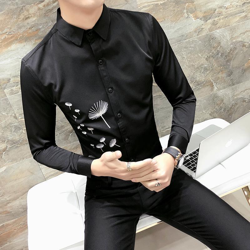 2019 Brand New Korean Tuxedo Shirt Fashion Nice Spring Long Sleeve ...