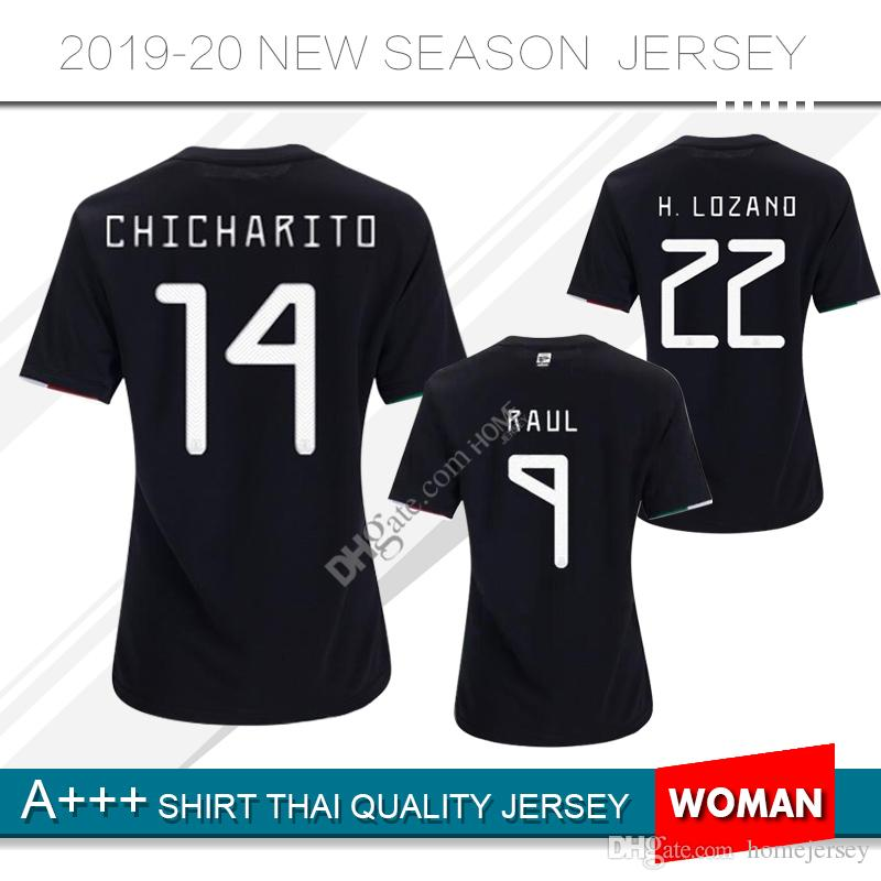 2ad5f25d8 2019 2019 Mexico Soccer Jersey 19 20 Mexico Home Women Soccer Shirt  14  CHICHARITO  22 H.LOZANO M.LAYUN Football Uniform From Homejersey