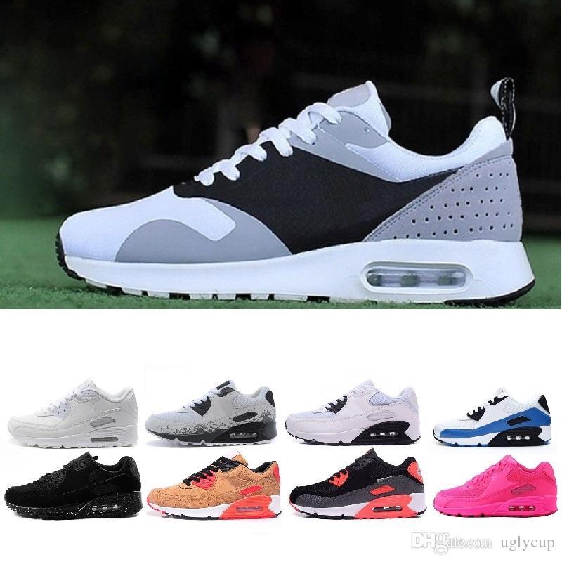 4e76f2665cccf Nike Air Max 90 Airmax Shoes 2018 87 90 Malla Tavas Camuflaje Para Mujer  Zapatos Para Hombre Auténtico Thea Negro Rojo Blanco Aire Caushion Sports  Athletic ...