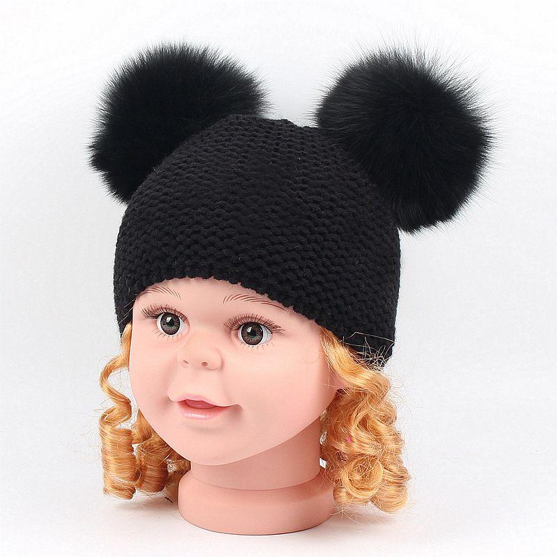 Mother & Kids Smart Winter Baby Beanie Warm Cotton Kids Bonnet Hat Cotton Knit Crochet Girl Boy Beret Cap Cute Hats & Caps