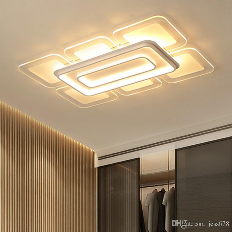 Großhandel JESS Ultradünne Weiße LED Moderne Deckenleuchten ...