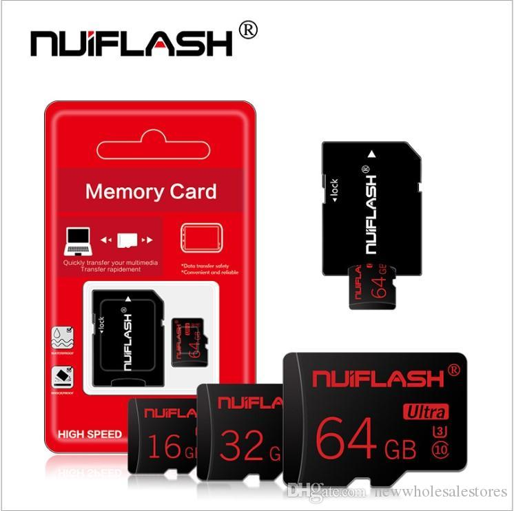 Carte mémoire flash haute vitesse en gros 128GB 64GB 32GB 16GB 8GB SD TF Card Class10