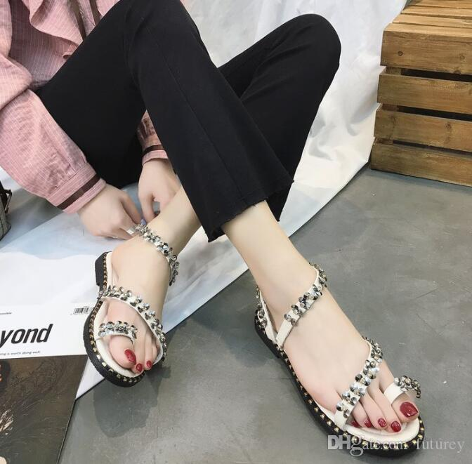 25fac1711229f6 New Designer Diamond Design Female Summer Sandals Rhinestone Wedges Fashion  Large Size 35 40 Women Sandal K0029 Comfortable Shoes Discount Shoes From  ...