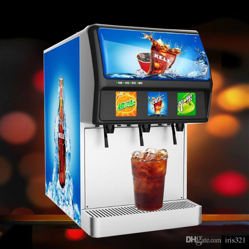 660W Fresh soda drinks vending machine commercial 220V cola beverage machine for sale shop use dispenser