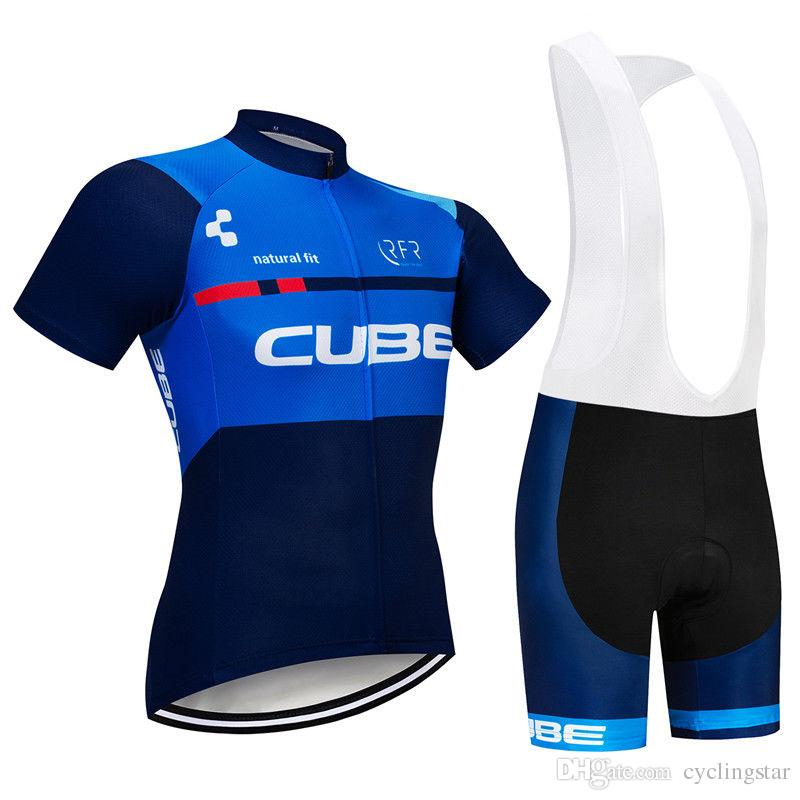 8c405cf2d 2019 Top Quality CUBE Cycling Jersey 3D Set MTB Bike Clothing Quick Dry  Ropa Ciclismo Bicycle Wear Clothes Men Short Maillot Culotte 122005Y Biker  T Shirt ...