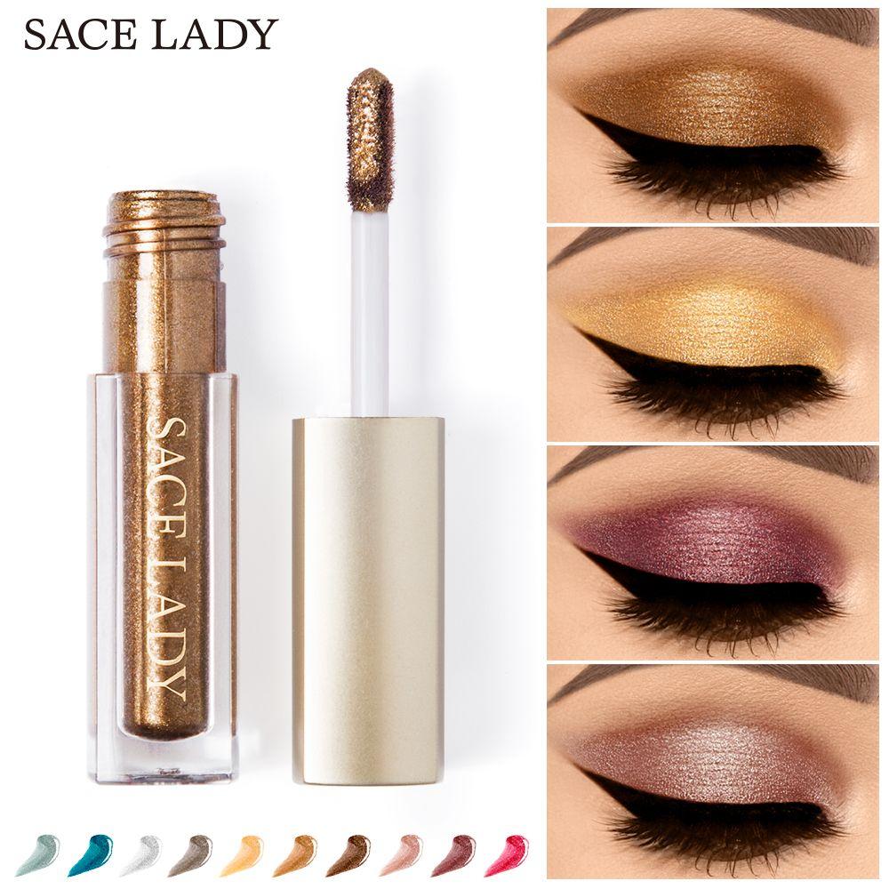 Eye Shadow Beauty & Health Sace Lady 10 Colors Liquid Eye Shadow Makeup Set Glitter Eyeshadow Illuminator Make Up Eye Highlighter Cream Shimmer Cosmetic Outstanding Features