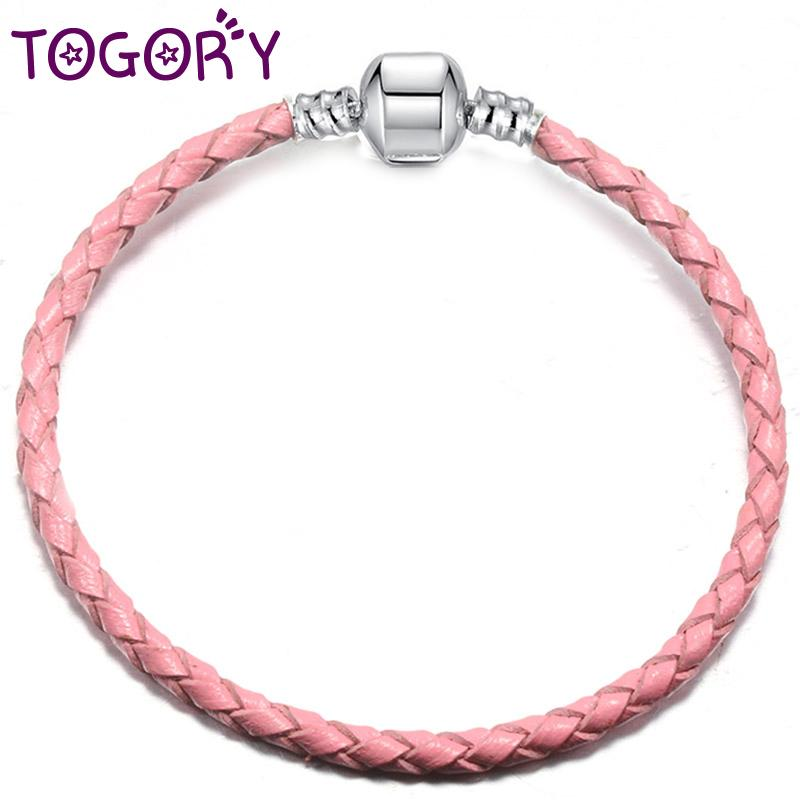 7735e8ae1 2019 TOGORY Dropshipping 9 Colours Leather Chain Charm Bracelets With DIY  Fine Bracelet For Women Gift From Pingwang1, $116.28 | DHgate.Com