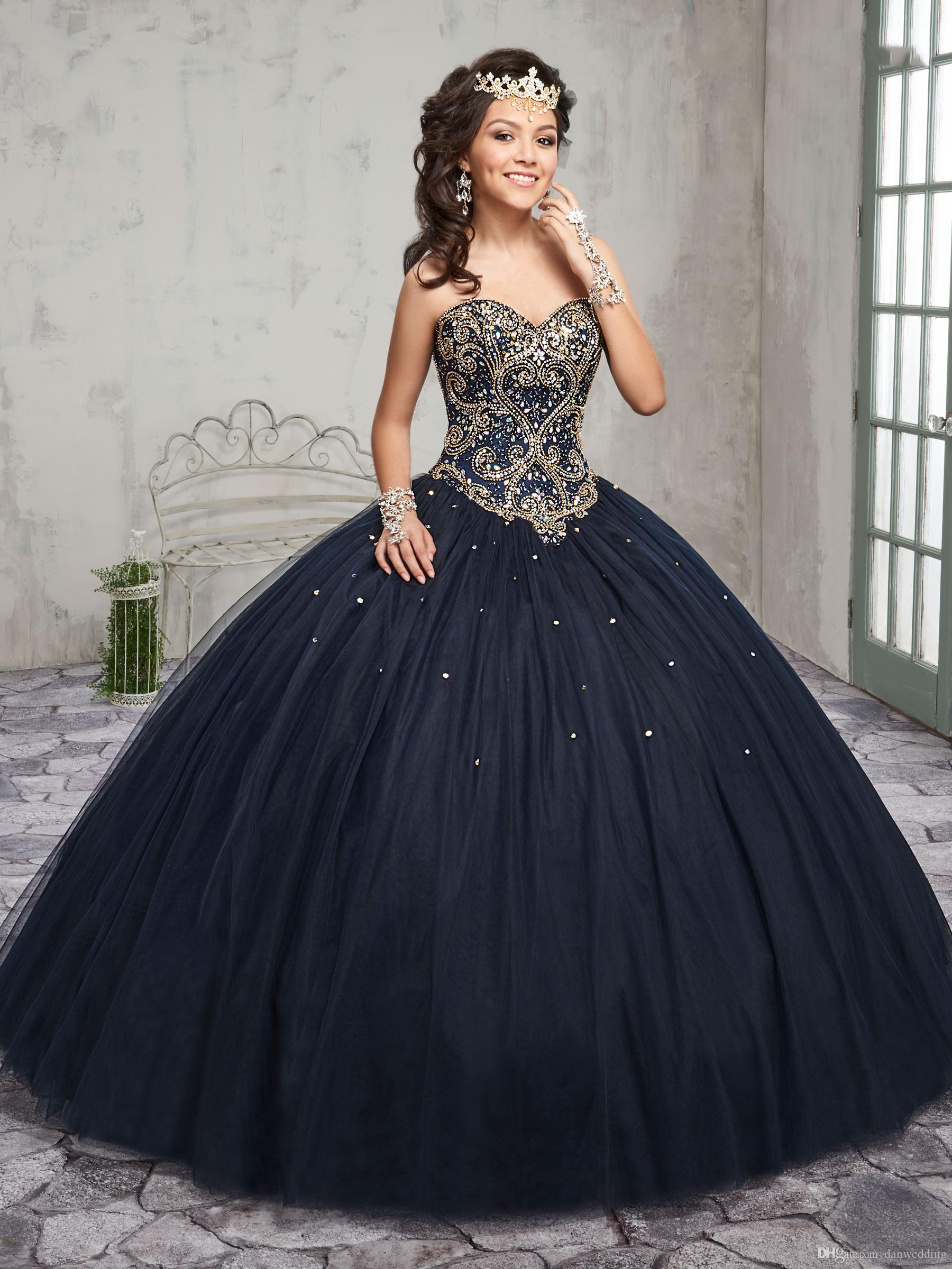 fc016c1d637 Elegant Navy Blue Burgundy Sweetheart Beads Quinceanera Dresses Special  Occasion Party Dresses Dance Prom Dresses Custom Size 2 18 KF1229348 Green  ...
