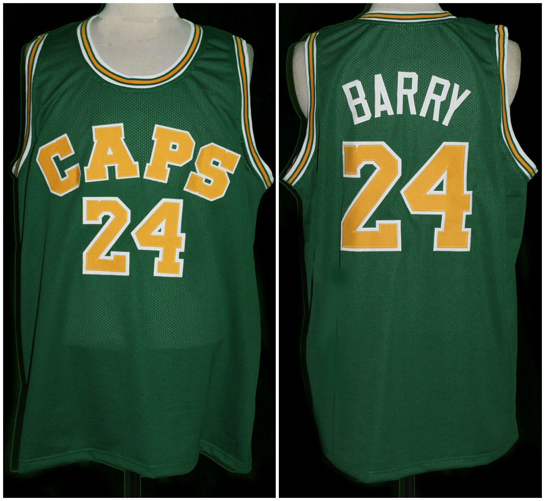 d995d00e6 Compre Rick Barry   24 Washington Caps Retro Basketball Jersey Para Hombre  Cosido Número Personalizado Jerseys Nombre A  23.35 Del Yufan5
