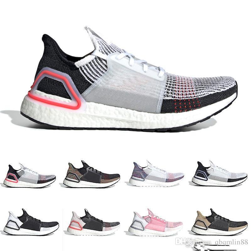 7dc0fa1964fbc Cloud White Black Ultra Boost 2019 Ultraboost Mens Running Shoes ...