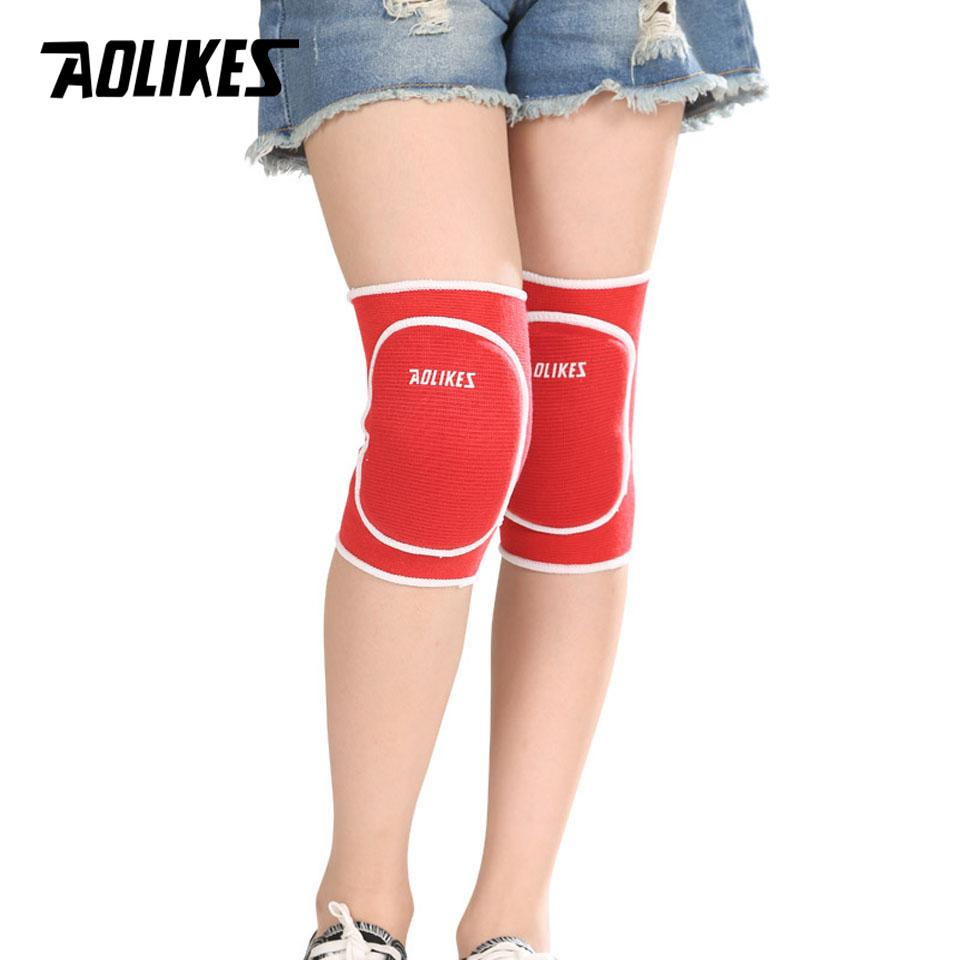 AOLIKES 1 Pair Kids Sponge Knee Support Dance Volleyball Tennis Knee Pads Sport Gym Kneepads Children Protection