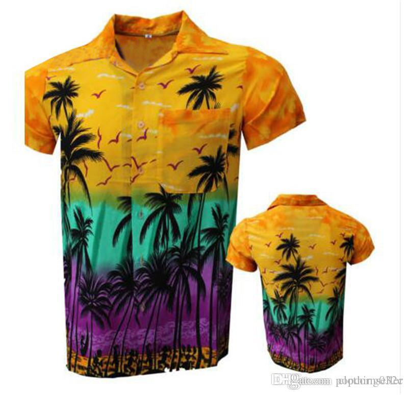 Mens Summer Designer Beach Tshirts Short Sleeve Standing Collar Flower Print Fashion Clothing Trade Loose Relaxed Clothing
