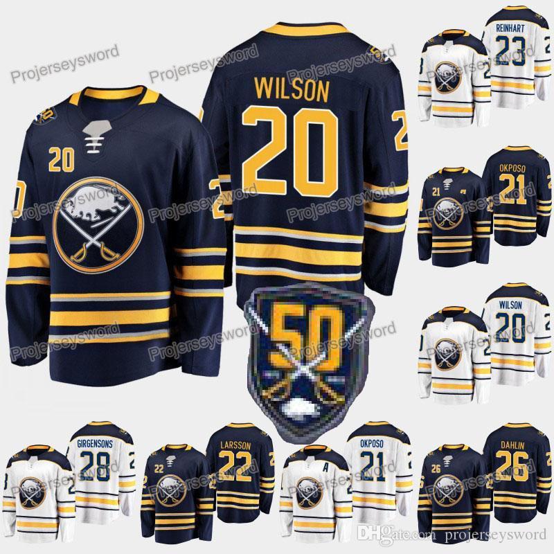 release date: f84b4 0c85d Buffalo Sabres 50th Anniversary 20 Scott Wilson 21 Kyle Okposo 22 Johan  Larsson 23 Sam Reinhart 26 Rasmus Dahlin 28 Zemgus Girgensons Jersey