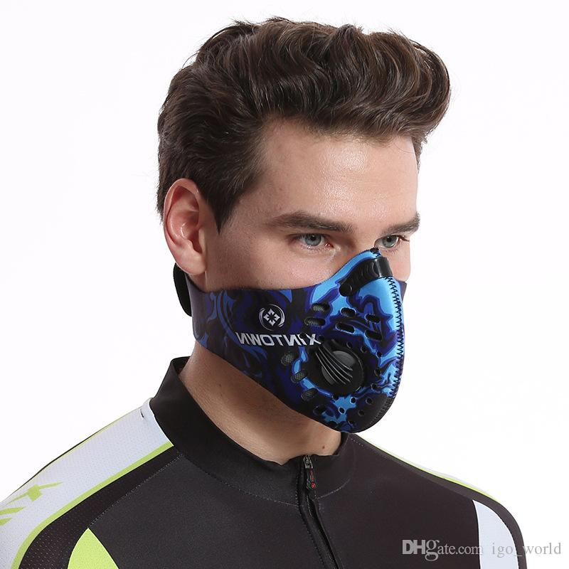 Anti-Fog Dustproof Mask Activated Carbon Mask Outdoor Sports Respirator Adjustable Nose Clip Filters for Sports Use