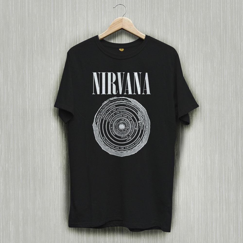 be2181b8d Nirvana Silver Rock Band Logo Black T Shirt Shirts Tee S 2XL Men Women  Unisex Fashion Tshirt T Shirt Sale Cool Shirt Designs From  Besttshirts201804, ...