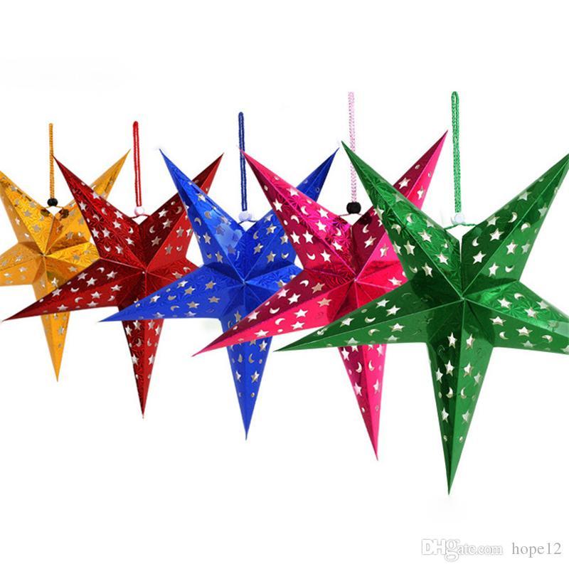 Stella Di Natale A 5 Punte.Stella Di Natale Di Vendita Calda Stella Di Natale Natale Tridimensionale Stella A Cinque Punte Decorazioni Di Babbo Natale