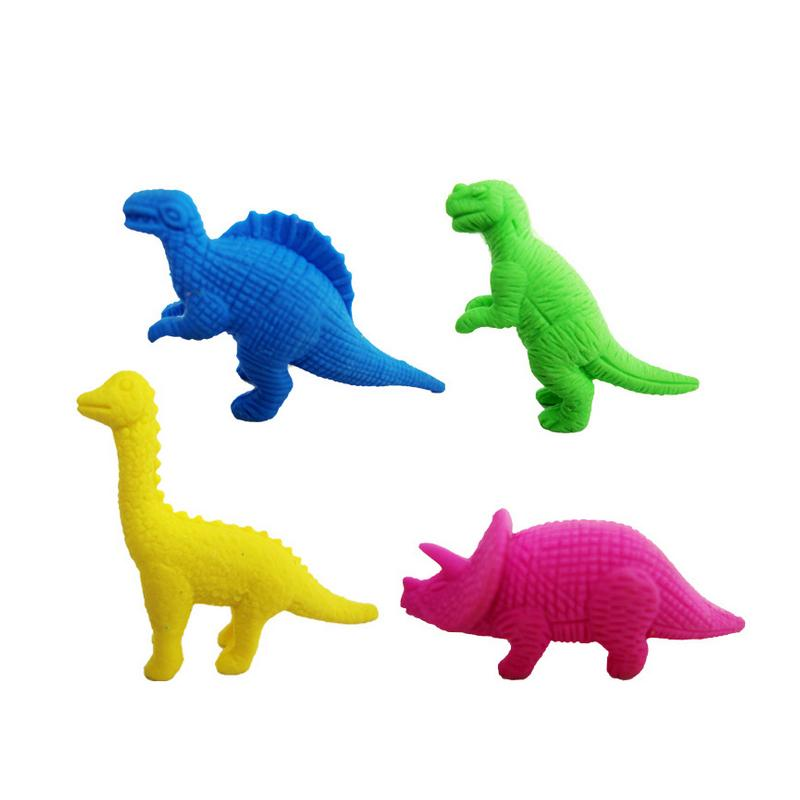 Dinosaur rubber eraser Cartoon animal removable eraser kawaii stationery school supplies gift toy for kids penil eraser Free shipping