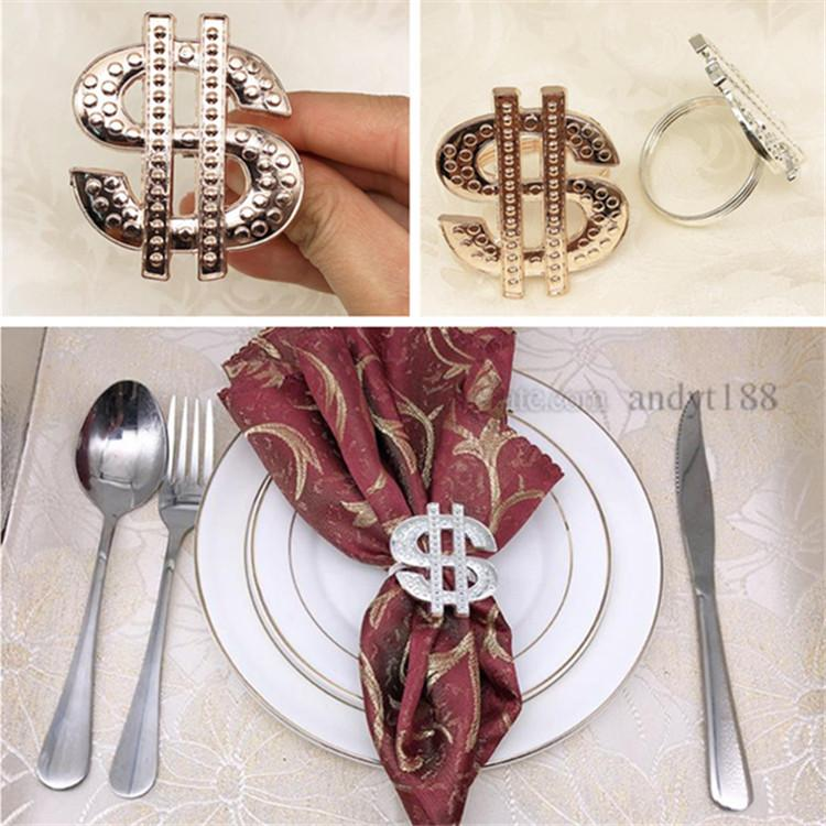 d879379a76 Fashion Golden, Silver, Rose Gold Metal Napkin Buckle Newest Napkin Ring  Western Restaurant Napkin Decoration Ring T9I005 Stone Napkin Rings  Succulent ...